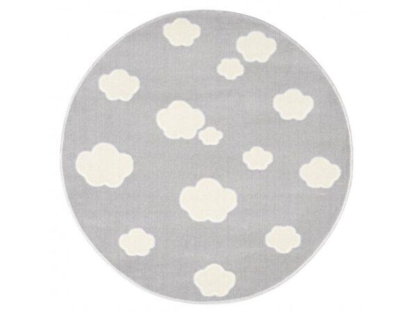 Felhős kör alakú szőnyeg felhőcskés játszószőnyeg gyerek babaszoba