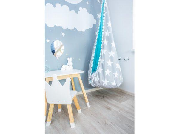 Lufi alakú tükör dekoráció nyuszis felhős lufis tükör gyerektükör alakú
