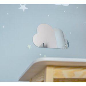 Felhő alakú tükör dekoráció nyuszis felhős lufis tükör gyerektükör alakú