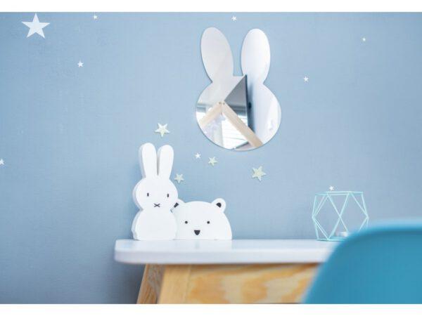 Nyuszi alakú tükör dekoráció nyuszis felhős lufis tükör gyerektükör alakú