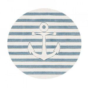 Hajós horgony, vasmacska kör alakú szőnyeg T550