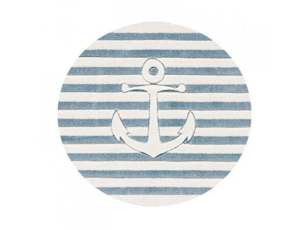 Hajós horgony vasmacska kör alakú szőnyeg gyerekszoba játszószőnyeg