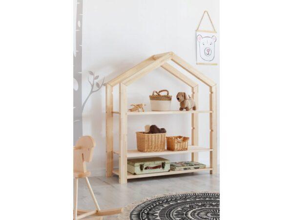 Ház alakú házikó polc babaszoba gyerekszoba bútor szekrény gyerekbútor