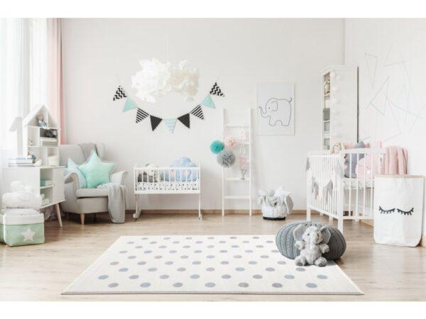 Pöttyös szőnyeg gyerekszoba játszószőnyeg babaszoba dekoráció