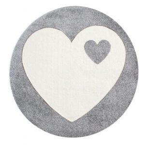 Szív mintás kör alakú szőnyeg – Több színben T540