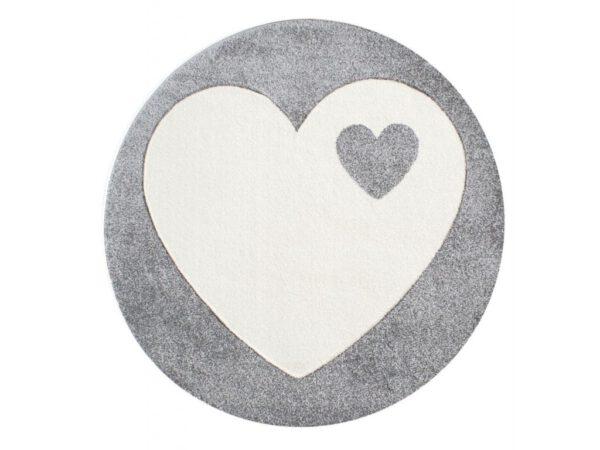 Szív mintás kör alakú szőnyeg gyerekszoba játszószőnyeg babaszoba