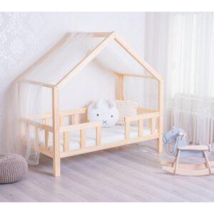 Körbe leesésgátlós ház alakú gyerekágy – Több méretben T589
