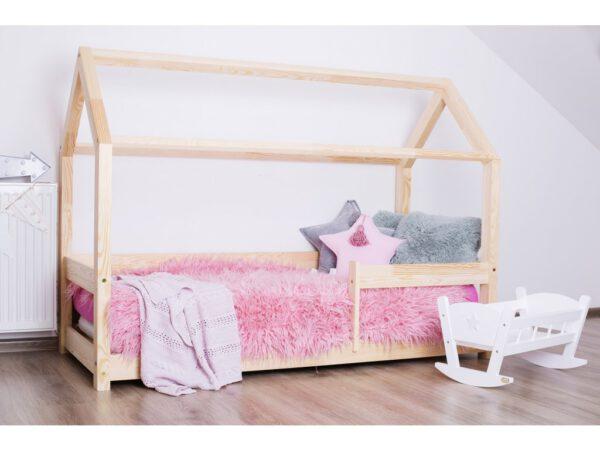 Leesésgátlós ház alakú gyerekágy gyerekszoba babaszoba dekoráció ágy