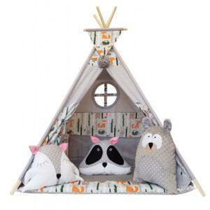 Állat figurás játszósátor, gyereksátor, teepee, indián sátor, gyerekszobába