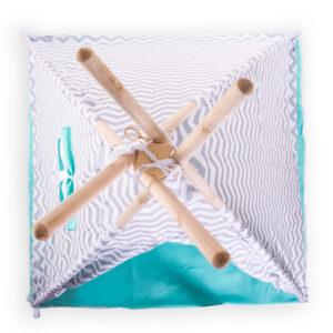 Gyerek sátor játszósátor – szürke fehér cikk-cakk színű T523