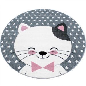 Cicás szőnyeg cuki aranyos cica kör alakú játszószőnyeg babaszoba