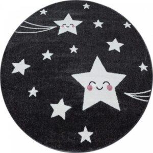 Cuki csillagos szőnyeg kör alakú – Több féle színben és méretben T536K