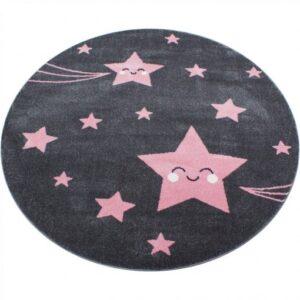 Cuki csillagos kör alakú szőnyeg játszószőnyeg babaszoba gyerekszoba
