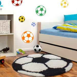 Foci labda kör alakú szőnyeg játszószőnyeg babaszoba gyerekszoba