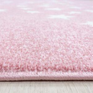 Pink csillagos szőnyeg – Több méretben, kör alakban is T562
