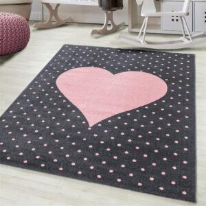 Szivecskés szőnyeg gyerekszoba játszószőnyeg szives szív babaszoba