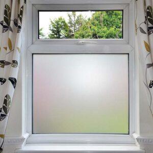 Belátásgátló és fényáteresztő fólia ablak üvegre, fürdőszobába, tejüveg, homokfúvott fólia M011
