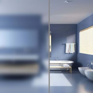 Belátásgátló fényáteresztő fólia üvegre fürdőszobába tejüveg homokfúvott