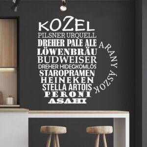 Söröskorsó falmatrica faltetoválás fali matrica szöveges szövegfelhő felirat