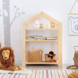 Ház alakú házikó álló polc babaszoba gyerekszoba bútor gyerekbútor