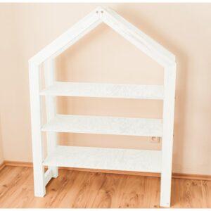 Ház alakú házikó polc babaszoba gyerekszoba bútor fehér gyerekbútor